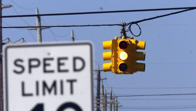 Traffic lights throughout Long Beach Island turn flashing yellow in the offseason.
