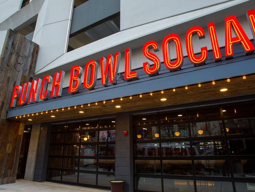Punch Bowl Social, opening in September 2016 in Downtown