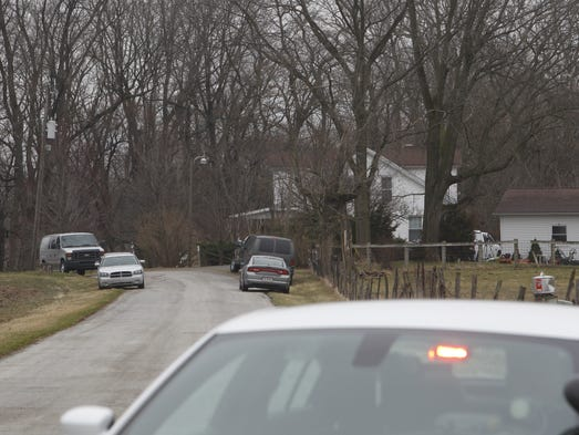 Police searched the house, outbuildings and property