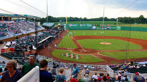 The crowd at Wednesday's game between the Jackson Generals