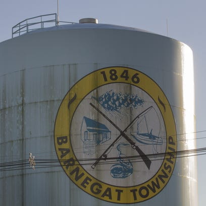 Barnegat Water Tower on Bay Ave in Barnegat Township.