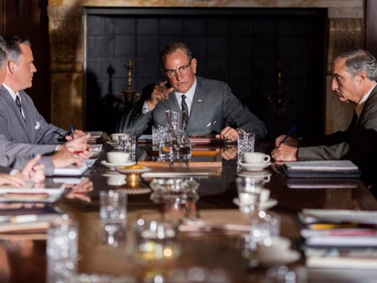 """Woody Harrelson as Lyndon Baines Johnson squares off with Michael Stahl-David's Robert F. Kennedy Jr. in the Rob Reiner biopic """"LBJ."""" The movie opens Friday, Nov. 3, at Frank Theatres Queensgate Stadium 13."""