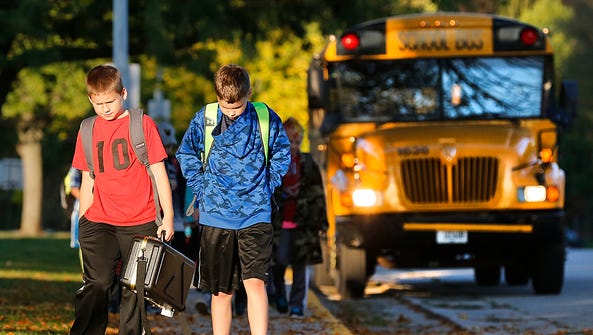 Students head to school in the Waupun Area School District.