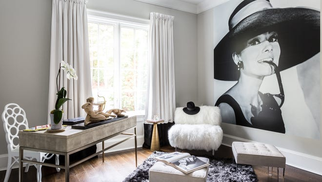 Writing room designed by Judi Schwarz Interiors