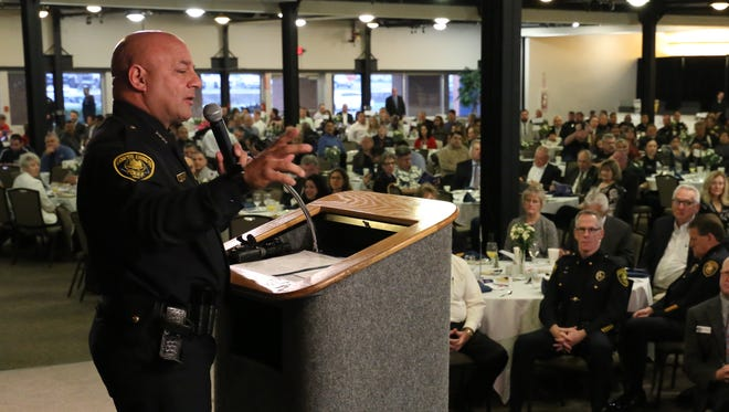 CCPD Chief Mike Markle speaks at the State of the Corpus Christi Police Department breakfast Wednesday, Jan. 18, 2017