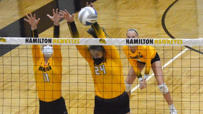 The Hamilton volleyball team lost in the regional semifinals on Tuesday.