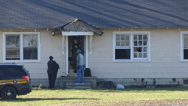 Marion law enforcement were in a nearly 5-hour standoff Friday with a shooter who would not leave a house on Marion Upper Sandusky Road.