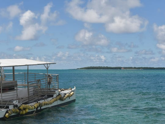 The Cocos Island Resort lagoon as seen at the Merizo Pier on Sept 19.