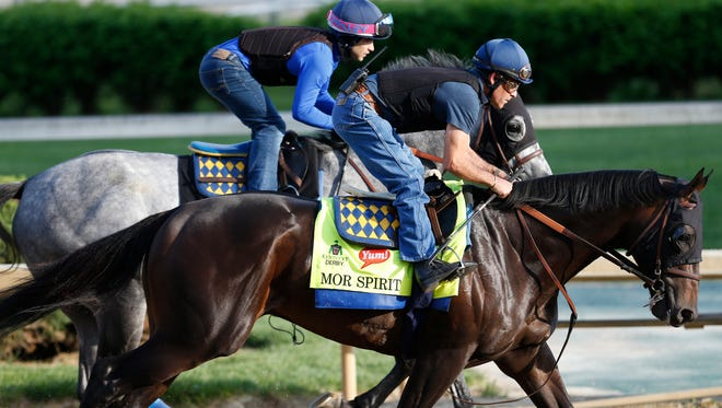 Mor Spirit, trained by Bob Baffert, worked April 26 at Churchill Downs.