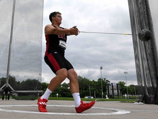 Rudy Winkler wins the hammer during the USA Championships