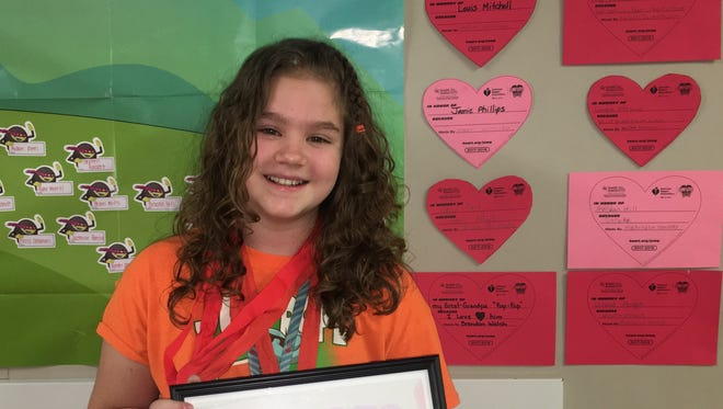 Greene fifth-grader Savannah Nowalk raised more than $1,500 this year during the Jump Rope for Heart fundraiser.