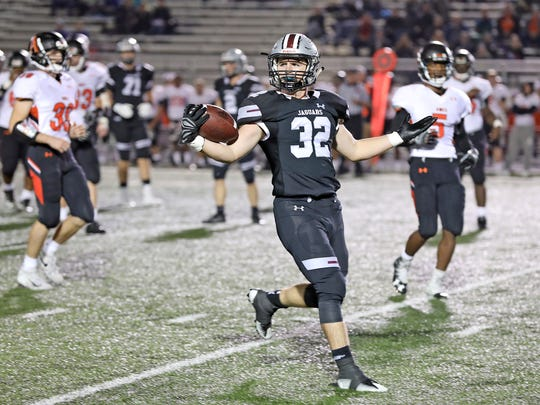 Ankeny Centennial's Gabe Godwin was so good last year that a referee stopped one of his running plays because they were fooled by the Jaguars' misdirection offense. Godwin, a senior this coming season, is expected to play a big role for Centennial.