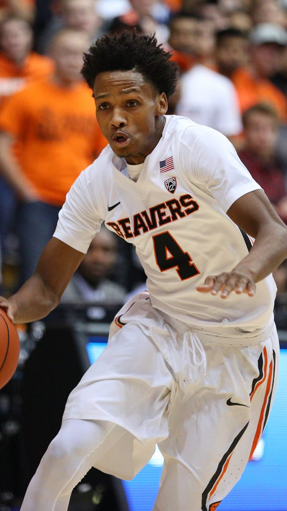 Oregon State freshman guard Derrick Bruce scored a season-high 11 points in the Beavers' last game, an 83-71 loss at Cal.