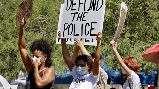 A Vox caller weighs in on the debate over defunding police departments.