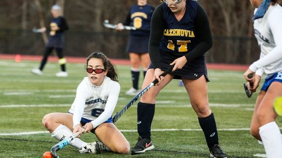 Bronxville's Hannah Weirners (6) goes after the loose
