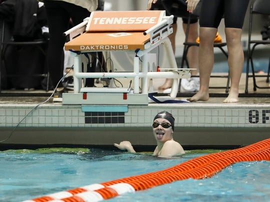 Tennessee sophomore Madeline Banic won the 50 free