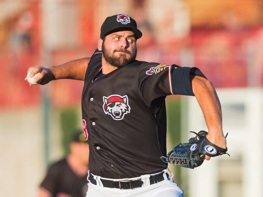 """Michael Fulmer pitched for the Erie SeaWolves, who are hosting an  """"#AlternativeFacts Night"""" on Aug. 25."""