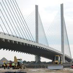 The Indian River Inlet bridge when it was under construction in 2013.