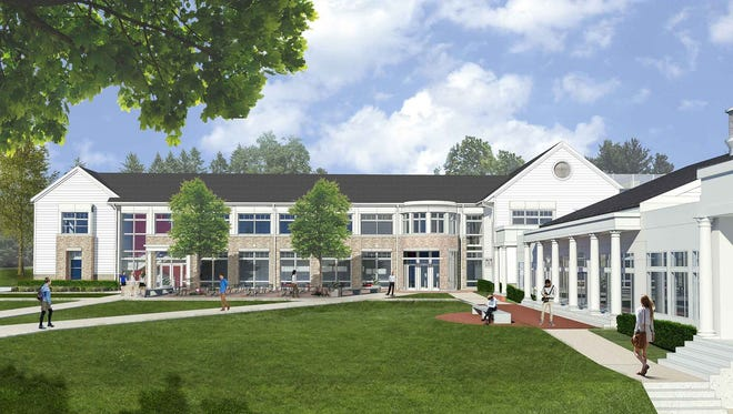 a rendering of the new $12.5 million math and science building under construction at the Morristown-Beard School.