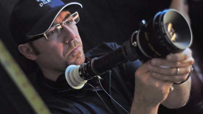 "Metro Detroit filmmaker Sam Kadi on the set of his first feature-length movie, ""The Citizen."""