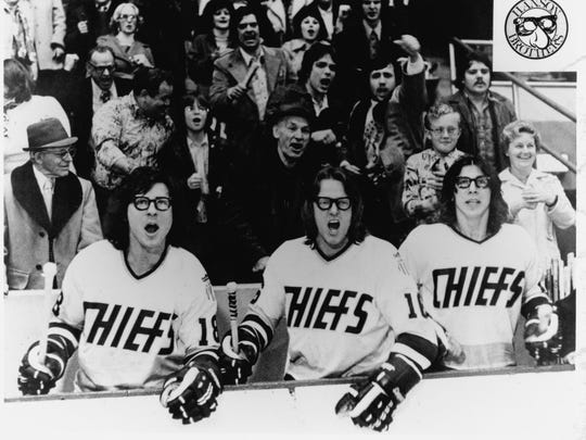 """The Hanson Brothers in the 1977 movie """"Slap Shot"""""""