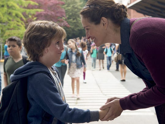 """Jacob Tremblay as """"Auggie"""" and Julia Roberts as """"Isabel"""" in """"Wonder."""""""
