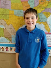 Liam Seeley of Bridgewater, fifth grade student at