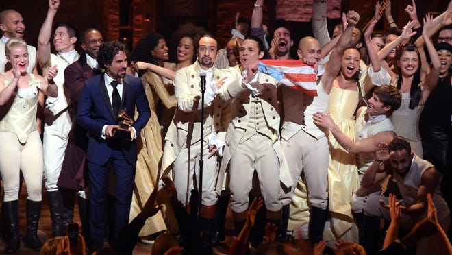"""Hip-hop musical """"Hamilton"""" is up for 16 Tony Awards, including Best Musical."""