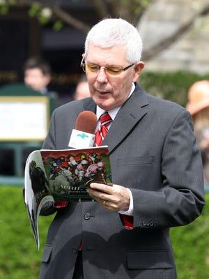 Mike Battaglia reads his picks at Keeneland.