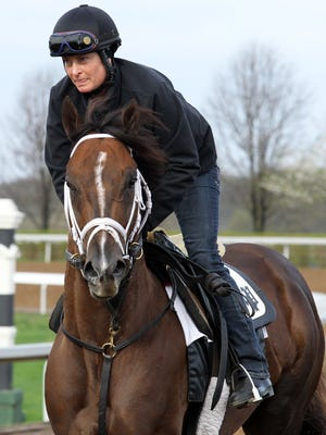 Carpe Diem became so tough to gallop that he frequently went out very late in order to gallop clockwise at Keeneland to keep him from running off or doing too much.