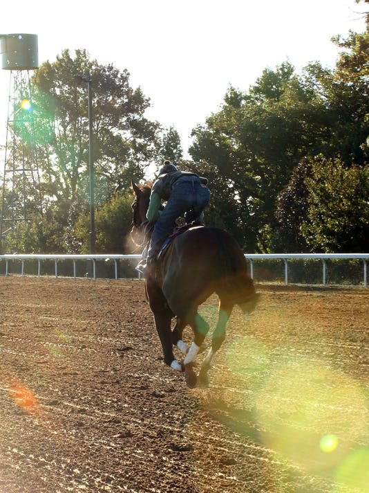 Runhappy - Morning Workout - Keeneland Race Course - 101415
