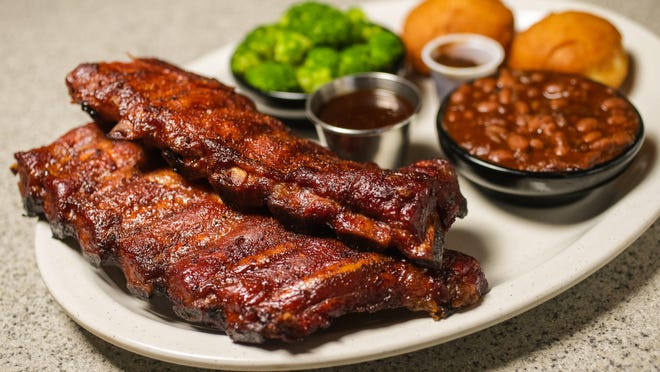 Baby Back Ribs at Squealers, which has a new location at Fort Ben.