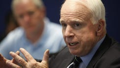 United States Senator John McCain speaks at The Arizona