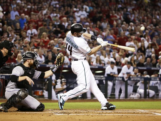 Paul Goldschmidt homers in the first inning of the