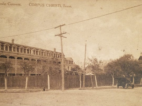 Incarnate Word school, convent and St. Patrick's Church were originally  on the bluff.