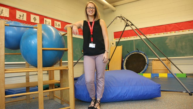 Ashley Moore is an occupational therapist for Liberty Post STARS Preschool.