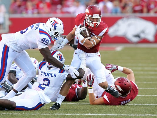 NCAA Football: Louisiana Tech at Arkansas