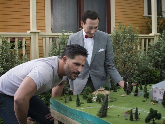 Joe Manganiello and Paul Reubens in 'Pee-wee's Big