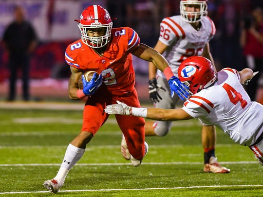 Jackson Prep running back Jerrion Ealy (2) returns a punt for a second quarter touchdown against Parklane during game action Friday, November 17th, 2017 in Clinton, MS.(Bob Smith-For the Clarion Ledger)