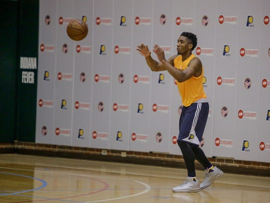 Donovan Mitchell of Louisville during the Pacers pre-draft