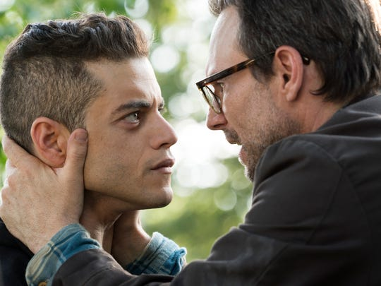Rami Malek, left, and Christian Slater star in USA