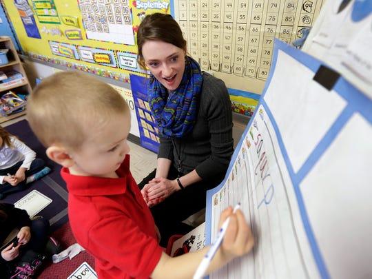 Resurrection Catholic School kindergarten teacher Maggie