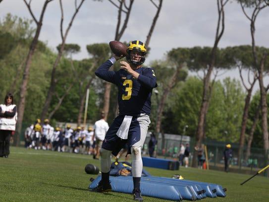 Michigan quarterback Wilton Speight during the Wolverines