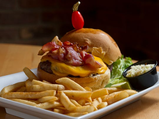 The bacon cheeseburger at Lighthouse Tavern in Waretown.
