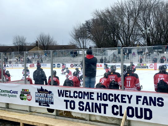 The Centennial Peewee AA team watches from the bench