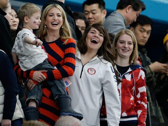 Ivanka Trump and U.S. women's curler Becca Hamilton,