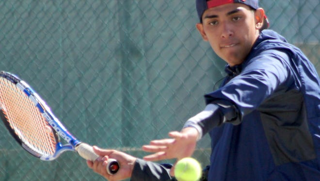 Senior Wildcat Elias Vigil had upset on his mind, but fell short at the Class 6A state tennis tournament on Wednesday in Albuquerque.