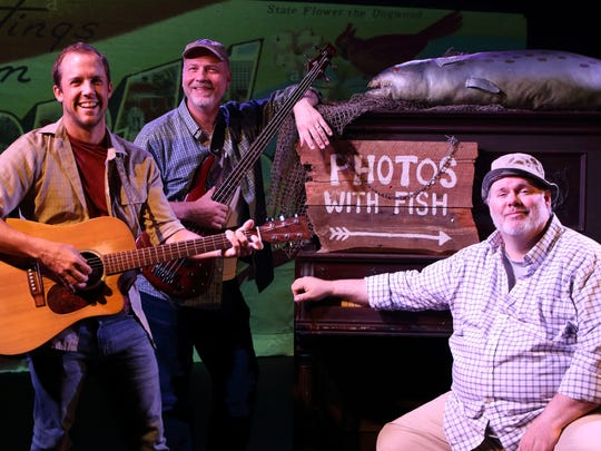 """Charlie Flynn-McIver, Ben Mackel and Joel P. Rogers star as Don, Jim and Bland, respectively, in """"King Mackerel and the Blues are Running: Songs and Stories from the Carolina Coast."""""""