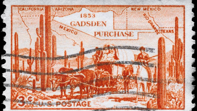 On Dec. 30, 1853, under the terms of the Gadsden Purchase, the U.S. agreed to pay Mexico $10 million for 45,535 square miles of land below the Gila from the Rio Grande to the Colorado River.