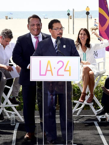 L.A. City Council President Herb Wesson along with